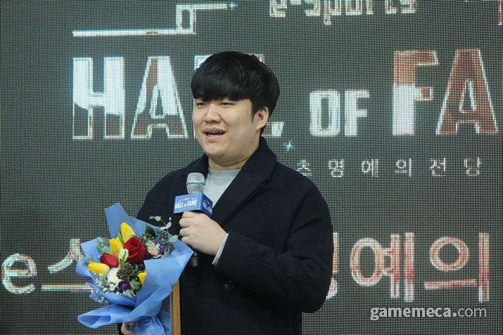 권상윤은 LCK에서 1,000킬을 달성한 선수로 히어로즈에 헌액됐다 (사진: 게임메카 촬영)