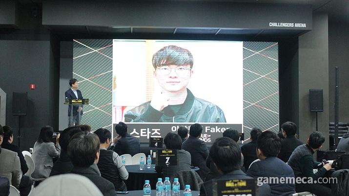 '페이커' 이상혁이 영상을 통해 감사의 뜻을 전했다 (사진: 게임메카 촬영)