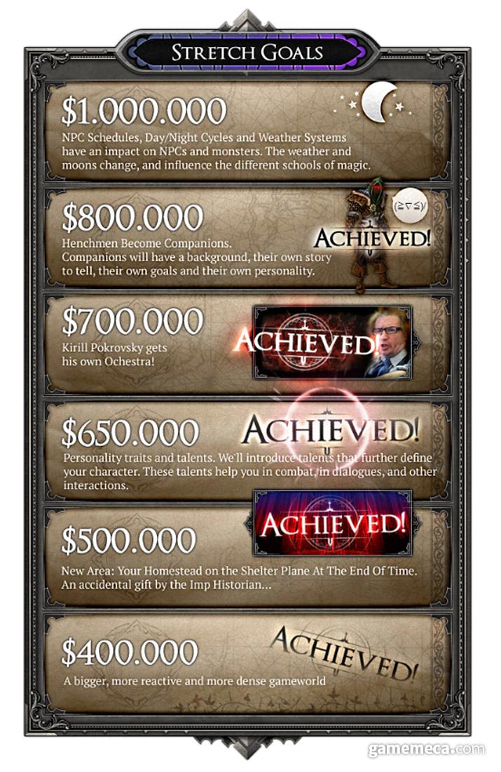 많은 후원금이 모임에 따라 게임 콘텐츠도 풍부하게 추가됐다 (사진출처: 킥스타터)