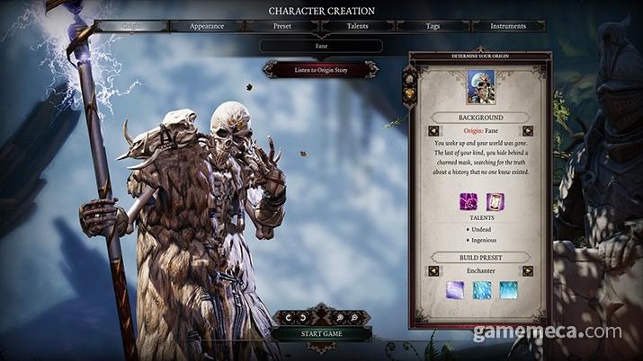 캐릭터 제작에서 상세한 부분을 설정하거나 선택할 수 있다 (사진출처: 스팀)