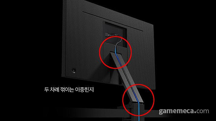 두 차례 꺾이면서 높이와 각도를 조절하는 클램프 이중힌지 스탠드 (사진출처: 제품 공식 웹페이지, 편집: 게임메카)