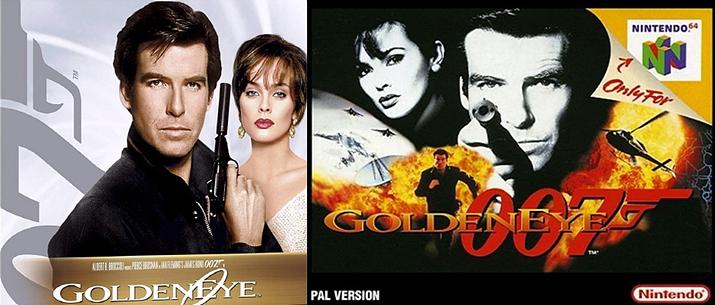 영화 007 골든 아이(좌)와 게임 골든아이 007 (사진출처: 아마존, 스팀커뮤니티)