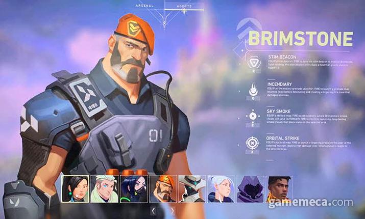 공격형 캐릭터이자 방어에도 어느 정도 탁월한 브림스톤 (사진: 게임메카 촬영)