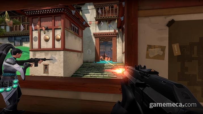 스킬을 통해 상황을 유리하게 만든 후 총으로 결판을 내는 구조다 (사진제공: 라이엇게임즈)