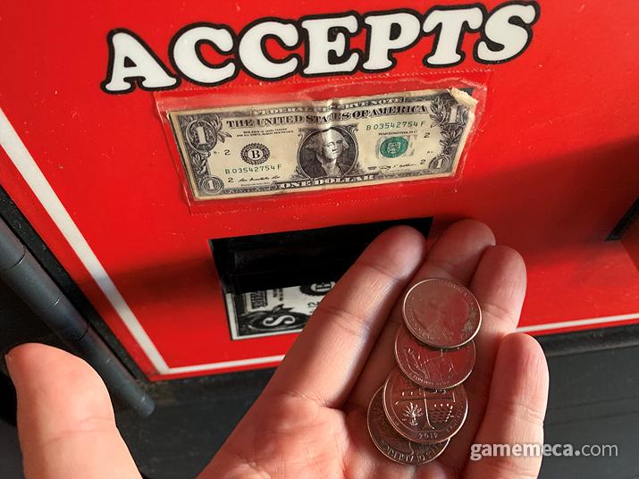 동전 교환은 25센트 동전으로