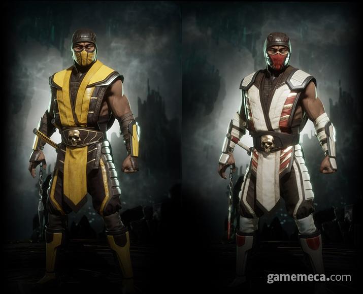 일찍부터 마스크 착용을 생활화 해 온 모탈 컴뱃 캐릭터들 (사진출처: 모탈 컴뱃 11 공식 홈페이지)