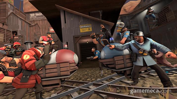 게임 모드는 물론 트랜스미디어 스토리텔링에서도 오버워치에 영감을 준 게임 팀 포트리스 2 (사진출처: 스팀)