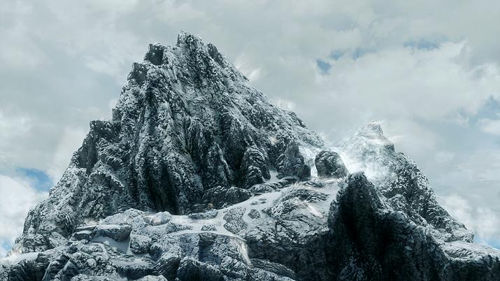 에베레스트보다 훨씬 오르기 쉬워 보이는 스카이림 최고봉 '세계의 목젖'