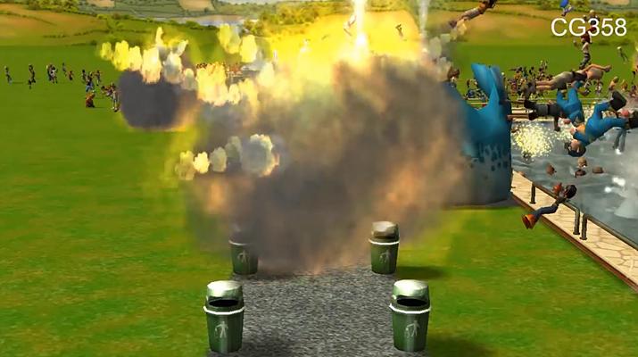 지옥이 있다면 이런 놀이공원일까 (사진출처: 유튜브 CG358 채널 갈무리)