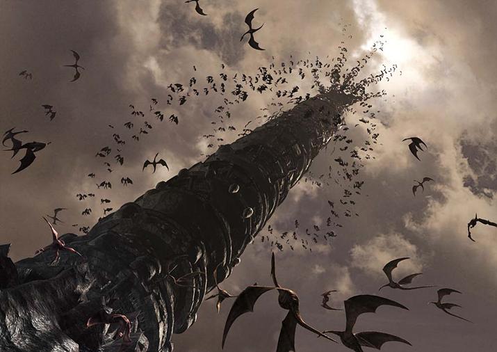 프리퀄 작품 이스 오리진에 등장한 '다암의 탑' (사진출처: 이스 팬덤 위키)
