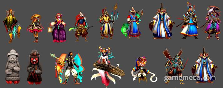한국을 비롯한 동양적 문화와 SF가 융합된 게임 캐릭터들 (사진제공: 울트라마린소프트)