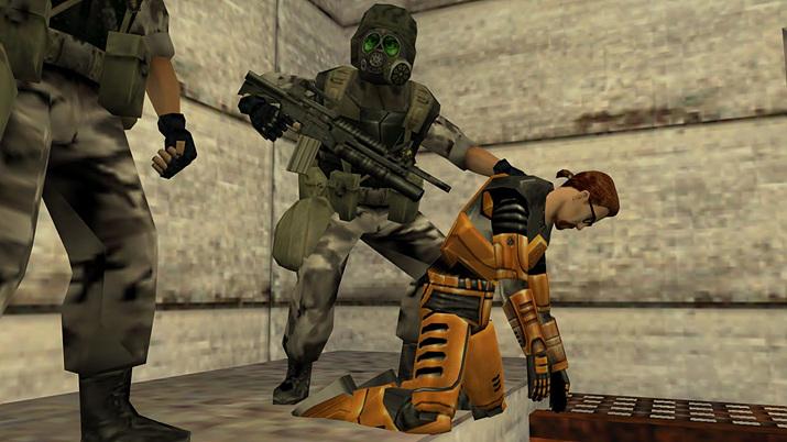 주인공 고든 프리맨은 여러 물리적 위기에 처한다 (사진출처: Half-Life: Decay)