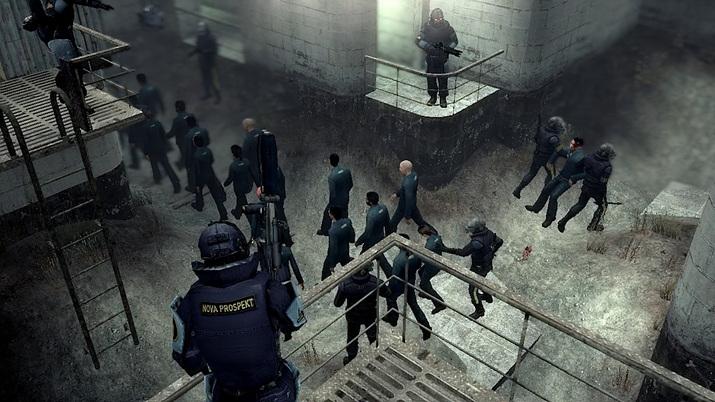 고든 프리맨이 악명 높은 노바 프로스펙트 수용소를 함락하자, 일반 시민들도 고무돼 저항군에 합류한다 (사진출처: 스팀)