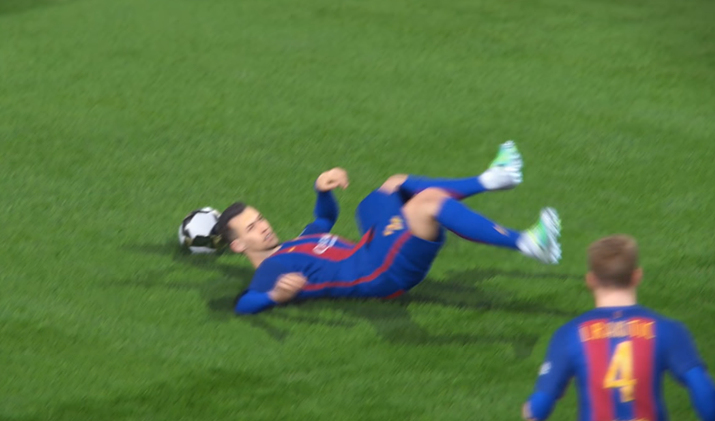 역시 축구의 최고존엄 기술은 침대축구 아니겠어? (사진출처: Emil4Gaming 유튜브 갈무리)