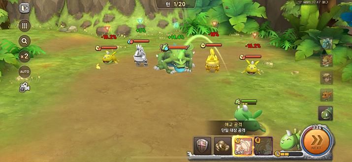 상성에 맞춰서 다양한 전투를 펼칠 수 있다 (사진: 게임메카 촬영)