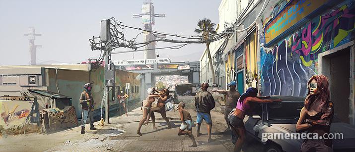 하층민으로서 살아가기 참 힘든 사이버펑크 2077 세계 (사진제공: CDPR)