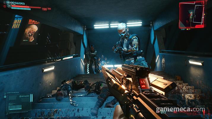 전투 장면만 따로 빼놓고 보면 일반 FPS를 보는 듯 하다 (사진제공: CDPR)