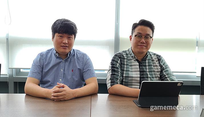 왼쪽부터 모히또게임즈 한성현 대표, 조이시티 박준승 이사 (사진제공: 조이시티)
