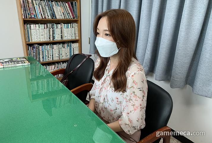 '내언니전지현과 나'를 제작한 박윤진 감독 (사진: 게임메카 촬영)