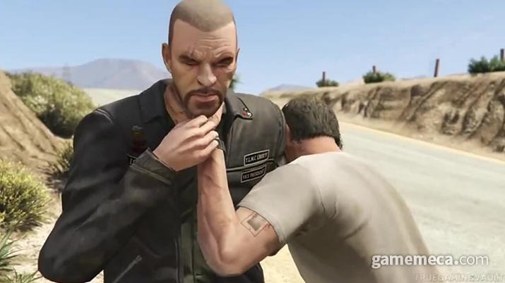 GTA 5에서는 초라한 모습으로 트레버에게... (사진: 게임메카 촬영)