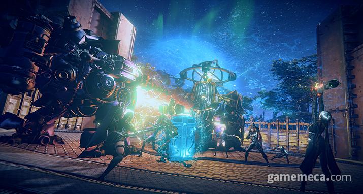 마갑기를 소환해 스케일 큰 전투를 벌이는 마갑기 공장 (사진제공: 카카오게임즈)