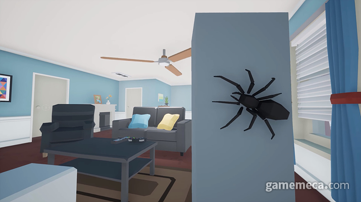집안에 숨어든 거미를 박멸하는 게임 '킬 잇 위드 파이어' (사진출처: 스팀)