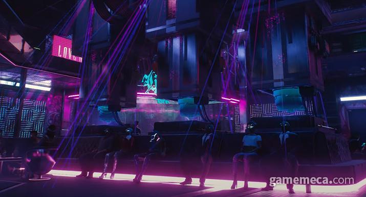 브레인 댄스 속 가상현실에 심취해 세월을 보내고 있는 사람들 (사진출처: 공식 트레일러 영상 갈무리)