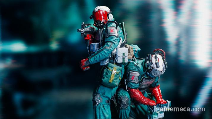 사이버펑크 2077 트라우마 팀 스태츄 (사진출처: CD 프로젝트 레드 기어)