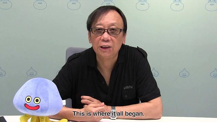 드래곤 퀘스트 시리즈의 아버지 호리이 유지 (사진출처: 스퀘어 에닉스 공식 유튜브 채널)