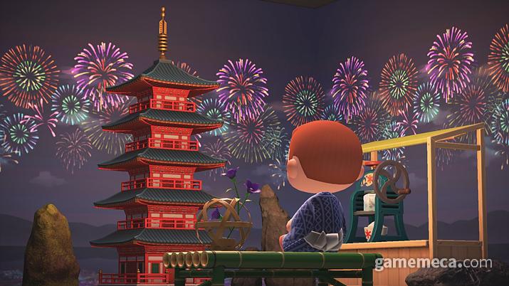 집안에 붙이는 불꽃축제 벽 (사진출처: 한국닌텐도 공식 사이트)
