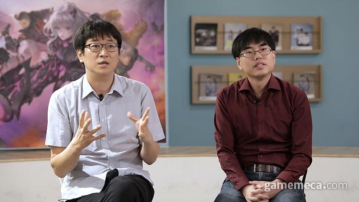 왼쪽부터 김진호 PD, 한정훈 기획 (사진제공: 컴투스)