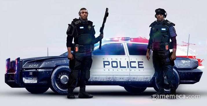치안 유지에 큰 역할을 하지 못하는 NCPD (사진출처: 월드 오브 사이버펑크 2077 설정집)