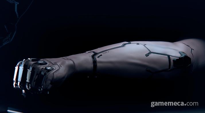 실제 피부와 거의 구분이 되지 않는 리얼스킨이 보급된 세상이지만... (사진출처: 월드 오브 사이버펑크 2077 설정집)