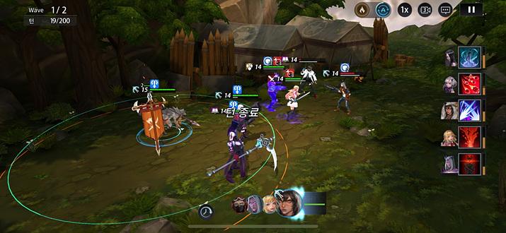 전투의 인터페이스와 그래픽에서 미묘하게 역할을 연상시킨다 (사진 : 게임 메카)