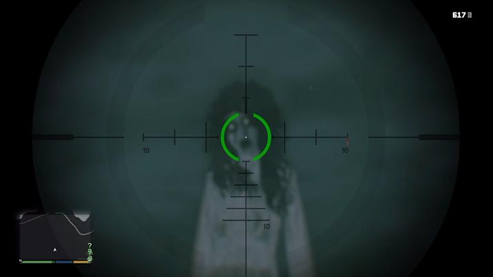 GTA 5에서 특정 시간에만 볼 수 있는 귀신 (사진출처: 유튜브 채널 Gamer 4 Life 영상 갈무리)