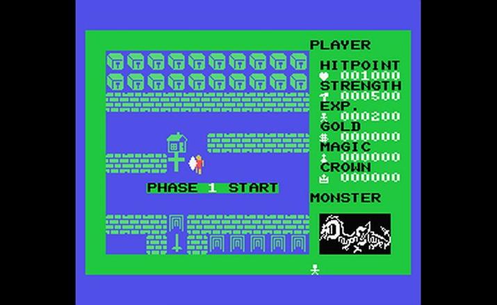 실시간 조작 요소로 큰 주목을 받은 1984년 출시된 '드래곤 슬레이어' (사진출처: Hardcore Gaming)