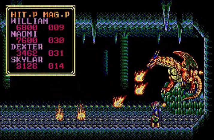 1987년 출시된 소서리안은 횡스크롤 슈팅을 연상시키는 요소가 많았다 (사진출처: Retro Games)