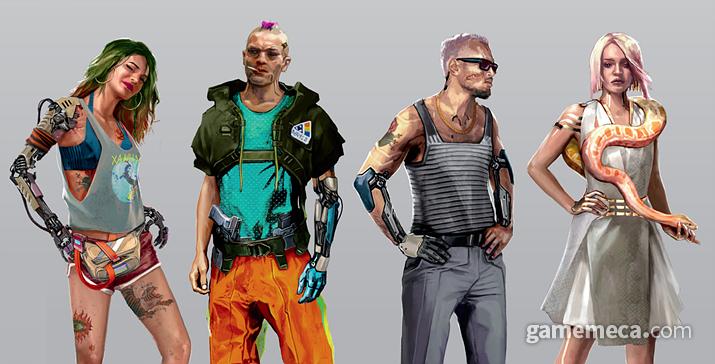 게임 내 등장하는 다양한 사이버웨어는 1, 2, 3, 4세대로 나뉜다 (사진출처: 월드 오브 사이버펑크 2077 설정집)