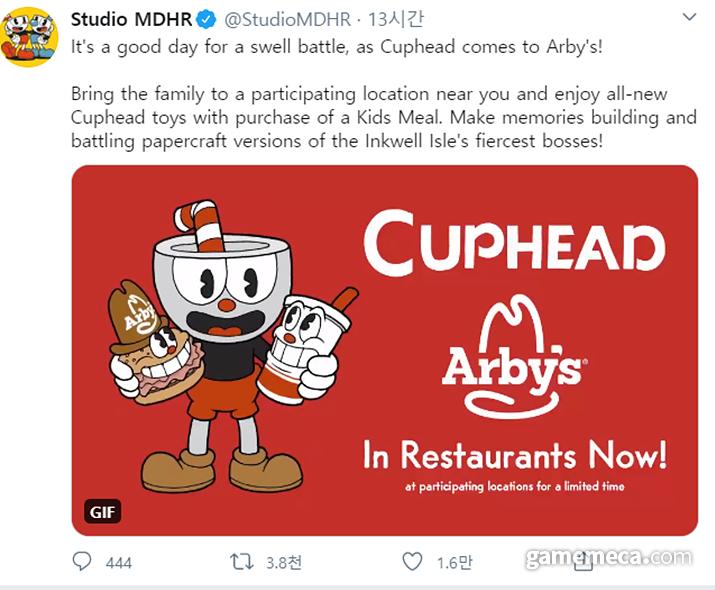 컵헤드와 아비스가 콜라보레이션을 실시한다 (사진출처: 스튜디오 MDHR 공식 트위터)