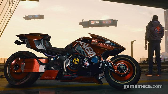 남자의 로망, 야이바 오토바이 (사진출처: 사이버펑크 2077 공식 홈페이지)