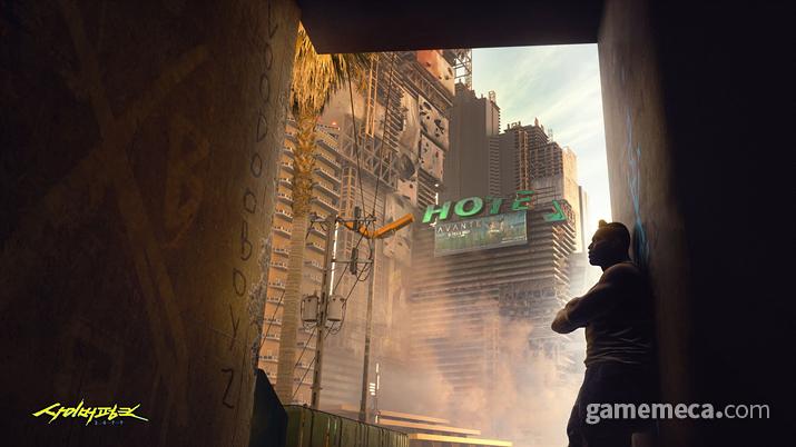 기업이 보호하는 특정 지역이나 건물은 철저히 봉쇄된다, 그들을 위해 (사진출처: 사이버펑크 2077 공식 사이트)