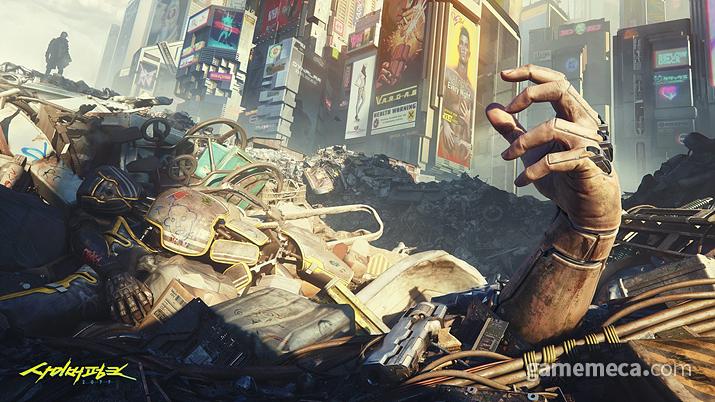 치안 뿐 아니라 전염병에도 한없이 취약한, 나이트 시티 (사진출처: 사이버펑크 2077 공식 사이트)