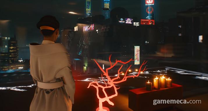 기업들의 손에 대부분이 좌지우지되는 사이버펑크 2077 나이트 시티 (사진출처: 공식 트레일러 갈무리)