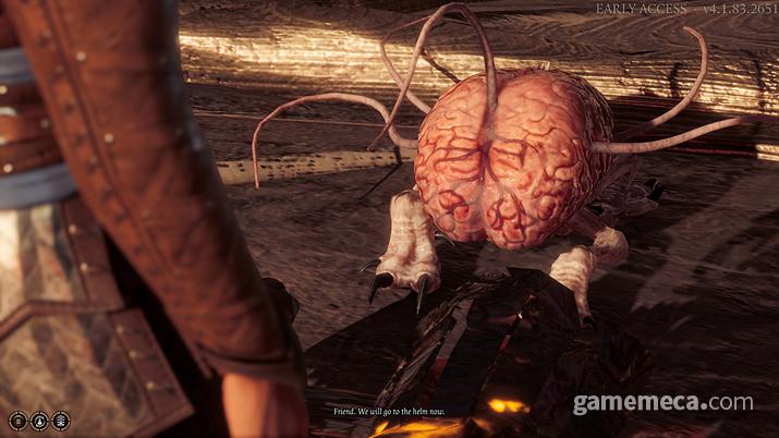 동료로 등장하는, 남의 뇌를 먹고 몸을 뺏는 괴물 '인텔렉트 디바우러' (사진: 게임메카 촬영)