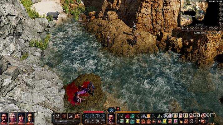 전투 외 상황에서는 실시간 포인트 앤 클릭 방식으로 진행된다 (사진: 게임메카 촬영)