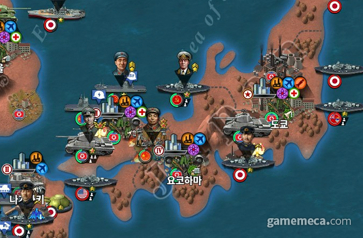 배에 올라타 출격 준비를 하는 모습이 작게나마 보인다 (사진출처: World Conqueror 4 커뮤니티)