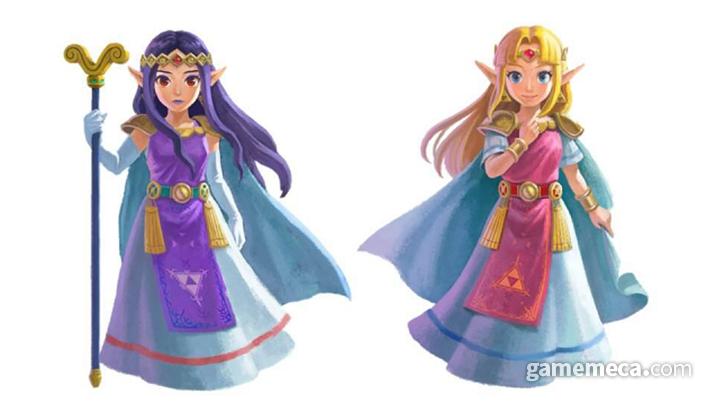 평행세계 힐다(좌)와 젤다 (우) (사진출처: Zelda Dungeon)