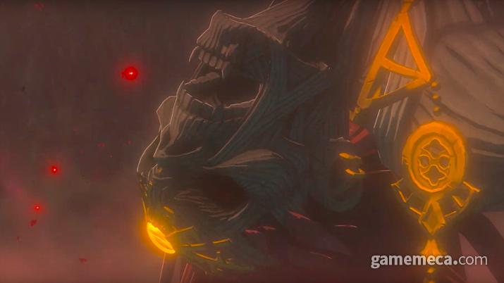 브레스 오브 더 와일드 후속작 트레일러에서 공개된 가논으로 추측되는 미이라 (사진출처:닌텐도 공식 유튜브 채널)