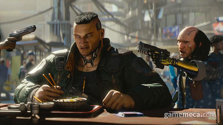 라멘이랑 김초밥 먹는데 건드리는 건 인간의 도리가 아니지 (사진출처: 게임 공식 홈페이지)