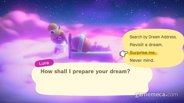 몽셰르가 모은 꿈 속으로 여행할 수 있다 (사진출처: 한국닌텐도 공식 홈페이지)
